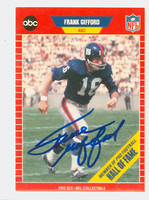Frank Gifford AUTOGRAPH d.15 1989 Pro Set Giants HOF '77 
