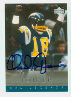 Charlie Joiner AUTOGRAPH 2000 Upper Deck NFL Legends Chargers HOF '96 