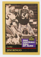 Jim Ringo AUTOGRAPH d.07 1991 Pro Football Hall of Fame card Eagles HOF '81 