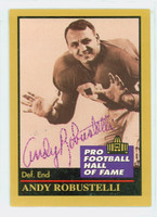 Andy Robustelli AUTOGRAPH d.11 1991 Pro Football Hall of Fame card Giants HOF '71 