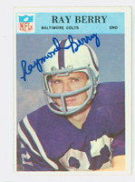 Raymond Berry AUTOGRAPH 1966 Philadelphia #15 Colts HOF '73 CARD IS CLEAN EX