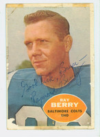 Raymond Berry AUTOGRAPH 1960 Topps Football #4 Colts HOF '73 CARD IS POOR, SL TAPE ON BINDING; SURF LOSS; PERS