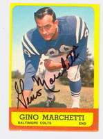 Gino Marchetti AUTOGRAPH 1963 Topps Football #8 Colts HOF '92 CARD IS CLEAN EXMT