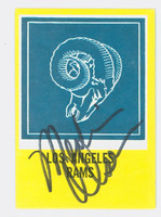Merlin Olsen AUTOGRAPH d.10 1967 Philadelphia #96 Rams Team Card HOF '82 CARD IS CLEAN EX