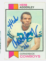 Herb Adderley AUTOGRAPH 1973 Topps Football #243 Cowboys HOF '80 CARD IS VG; AUTO CLEAN