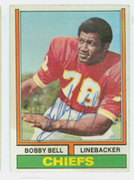 Bobby Bell AUTOGRAPH 1974 Topps Football #59 Chiefs HOF '83 CARD IS VG; AUTO CLEAN