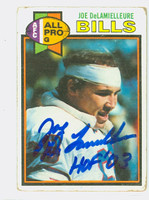 Joe DeLamielleure AUTOGRAPH 1979 Topps Football #190 Bills HOF '03 CARD IS F/G; RND CRNS