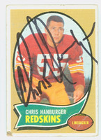 Chris Hanburger AUTOGRAPH 1970 Topps Football #93 Redskins HOF '11 CARD IS F/P; CREASES