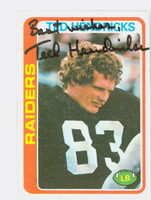 Ted Hendricks AUTOGRAPH 1978 Topps Football #68 Raiders HOF '90 CARD IS CLEAN VG/EX