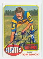 Tom Mack AUTOGRAPH 1976 Topps Football #110 Rams HOF '99 CARD IS CLEAN EX