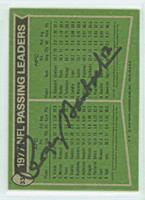 Roger Staubach AUTOGRAPH 1978 Topps Football #331 Cowboys NFL Passsing Leaders BACK SIGNED HOF '85 CARD IS CLEAN EX  [SKU:StauR52180_T78FB]