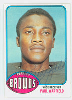 Paul Warfield AUTOGRAPH 1976 Topps Football #317 Browns HOF '83 CARD IS CLEAN EX/MT