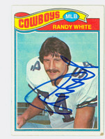 Randy White AUTOGRAPH 1977 Topps Football #342 Cowboys HOF '94 CARD IS G/VG; CRN DING, AUTO CLEAN