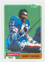 Harry Carson AUTOGRAPH 1981 Topps Football #475 Giants HOF '06 