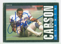 Harry Carson AUTOGRAPH 1985 Topps Football #114 Giants HOF '06 
