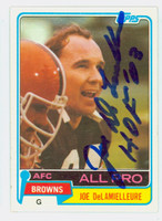 Joe DeLamielleure AUTOGRAPH 1981 Topps Football #170 Browns HOF '03 CARD IS CLEAN EX