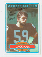 Jack Ham AUTOGRAPH 1980 Topps Football #10 Steelers HOF '88 CARD IS SHARP NMT
