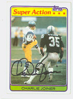 Charlie Joiner AUTOGRAPH 1982 Topps Football In Action #312 Chargers HOF '96 CARD IS SHARP EXMT
