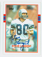 Steve Largent AUTOGRAPH 1989 Topps Football #183 Seahawks HOF '95 CARD IS CLEAN EX