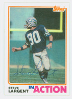 Steve Largent AUTOGRAPH 1982 Topps Football #250 In Action Seahawks HOF '95 CARD IS CLEAN EX  [SKU:LargS52307_T82IA]