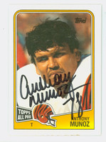 Anthony Munoz AUTOGRAPH 1988 Topps Football #345 Bengals 