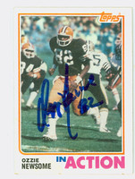 Ozzie Newsome AUTOGRAPH 1982 Topps Football In Action Browns HOF '99   [SKU:NewsO52301_T82IA]