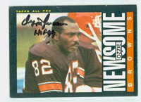 Ozzie Newsome AUTOGRAPH 1985 Topps Football Browns HOF '99 