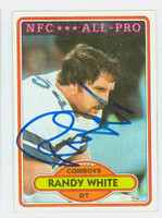 Randy White AUTOGRAPH 1980 Topps Football #70 Cowboys HOF '94 CARD IS CLEAN EX