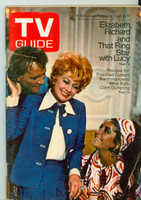 1970 TV Guide Sep 5 Lucy with Liz and Dick Wisconson edition Excellent - No Mailing Label  [Sl loose at staples, lt wear and scuffing on cover; contents fine]