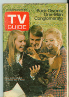 1970 TV Guide Nov 7 Cast of Nancy Pittsburgh edition Very Good - No Mailing Label  [Sl loose at staples, lt wear and scuffing on cover; contents fine]