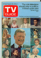 1970 TV Guide Nov 28 John Wayne Iowa edition Very Good to Excellent - No Mailing Label  [Wear and creasing on cover, contents fine]