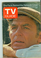 1971 TV Guide January 9 Andy Griffith Western Illinois edition Very Good to Excellent - No Mailing Label  [Lt scuffing and creasing on cover; contents fine]