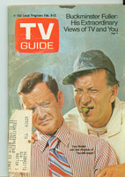 1971 TV Guide February 6 Tony Randall and Jack Klugman (First Cover) Chicago edition Very Good to Excellent  [Loose at staples, wear on cover, contents fine]