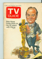 1971 TV Guide April 10 Bob Hope Hosts the Oscars Montana edition Very Good - No Mailing Label  [Lt toning along binding, ow clean]