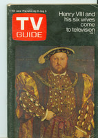 1971 TV Guide July 31 Henry VIII Colorado edition Very Good to Excellent - No Mailing Label  [Lt toning along binding, ow clean]