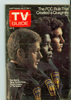 1973 TV Guide Jan 27 Cast of the Rookies Western New England edition Very Good to Excellent - No Mailing Label  [Lt wear and scuffing on cover; contents fine]
