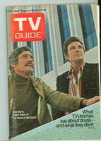 1971 TV Guide March 13 Gene Barry and Robert Stack of Name of the Game Eastern New England edition Excellent to Mint - No Mailing Label  [Scuffing along binding, ow clean]