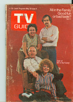 1971 TV Guide May 29 Cast of All in The Family (First Cover) Missouri edition Very Good - No Mailing Label  [Sl loose at staples, scuffing and creasing on cover; staple rust]