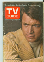1971 TV Guide July 17 Chad Everett of Medical Center Iowa edition Very Good to Excellent - No Mailing Label  [Wear, creasing and scuffing on cover; contents fine]