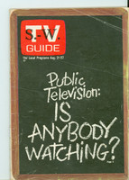 1971 TV Guide August 21 Public Television Western Illinois edition Excellent to Mint - No Mailing Label  [Very clean]