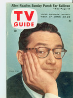 1956 TV Guide Jun 23 Steve Allen Colorado edition Excellent to Mint - No Mailing Label  [Very lt wear on cover, ow very clean]
