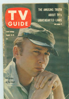 1960 TV Guide Aug 13 The Rebel West Virginia edition Very Good - No Mailing Label  [Heavy wear along binding, lt creasing on cover; contents fine]
