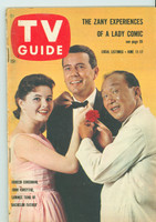 1960 TV Guide Jun 11 Bachelor Father Southern Ohio edition Very Good to Excellent - No Mailing Label  [Sl bend along binding, lt wear; contents fine]