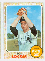 Bob Locker AUTOGRAPH 1968 Topps #51 White Sox CARD IS CLEAN EX