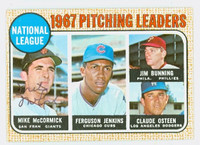 Mike McCormick AUTOGRAPH 1968 Topps NL Pitching Leaders #9 Giants CARD IS CLEAN VG/EX