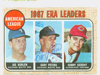 Gary Peters AUTOGRAPH 1968 Topps AL ERA Leaders #8 White Sox CARD IS CLEAN EX