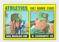 Sal Bando AUTOGRAPH 1967 Topps #33 Athletics ROOKIE CARD IS CLEAN EX
