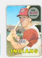 Max Alvis AUTOGRAPH 1969 Topps #145 Indians CARD IS CLEAN EX  [SKU:AlviM1551_T69BBR]