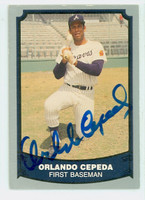 Orlando Cepeda AUTOGRAPH 1988|89 Pacific Legends Braves 