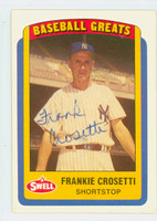 Frank Crosetti AUTOGRAPH d.02 Swell Yankees 